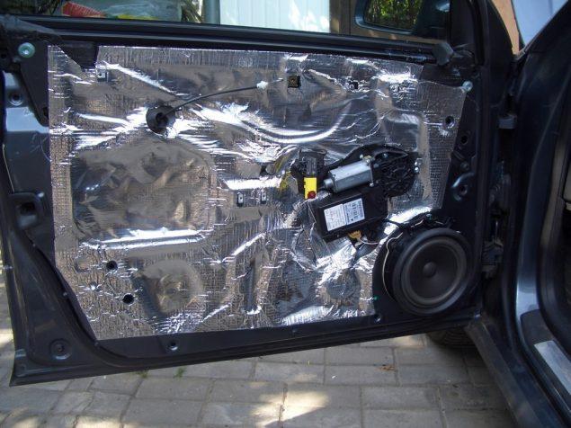 Дверная обшивка шумоизоляция