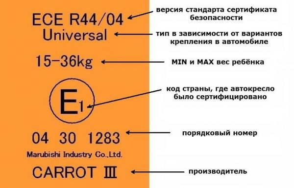 Стандарт ECE R44.03