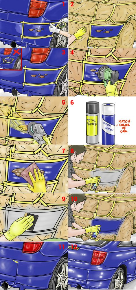 Как удалить коррозию с кузова автомобиля