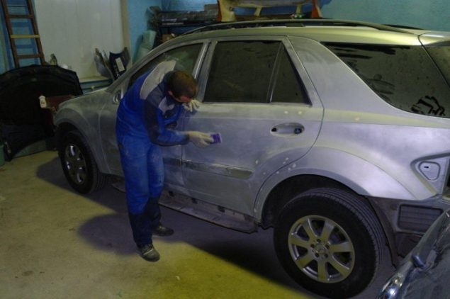 Подготовка кузова перед окрашиванием
