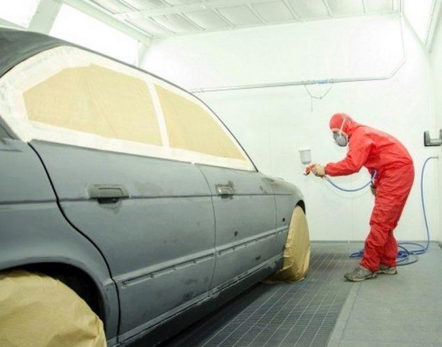 Процесс грунтовки, подготовки к покраске